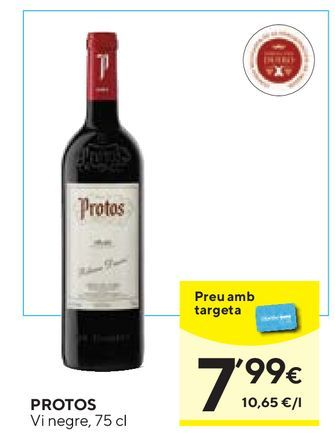 Oferta de Vino tinto Protos por 7,99€