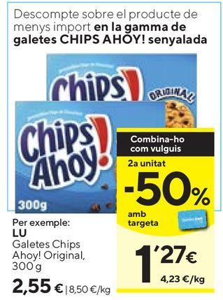 Oferta de Galletas Chips Ahoy por 2,55€