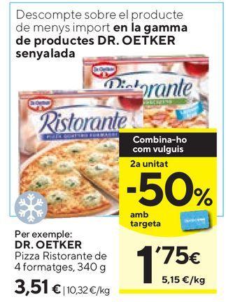 Oferta de Pizza congelada Dr Oetker por 3,51€