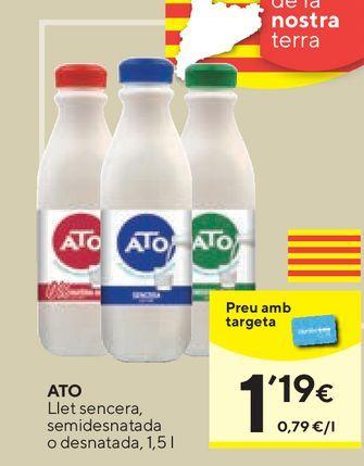 Oferta de Leche entera ATO por 1,19€