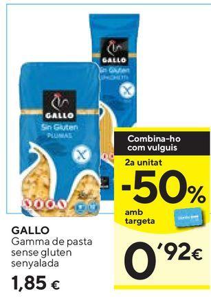 Oferta de Pasta Gallo por 1,85€