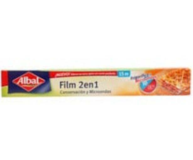 Oferta de Film  2 en 1 conservación y microondas ALBAL 15 mts. por 2,04€