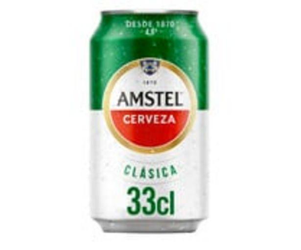 Oferta de Cerveza AMSTEL CLÁSICA lata de 33 cl. por 0,28€
