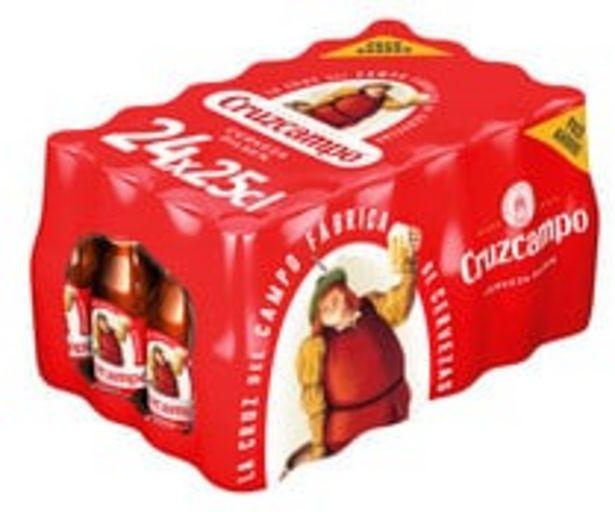 Oferta de Cervezas CRUZCAMPO pack 24 uds de 25 cl. por 8,48€