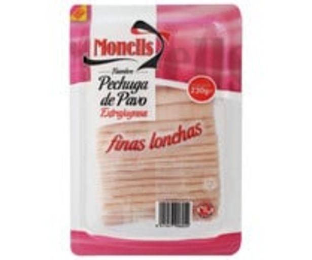 Oferta de Fiambre de pechuga de pavo, extrajugosa y cortada en finas lonchas MONELLS 230 g. por 1,85€