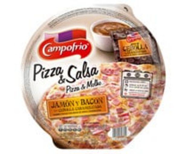 Oferta de Pizza congelada de jamón, bacon, cebolla caramelizada y salsa de cebolla caramelizada CAMPOFRÍO 360 g. por 1,99€