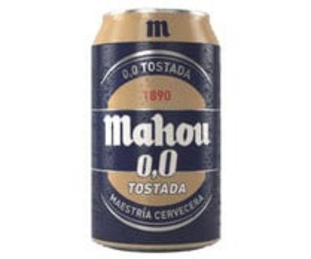 Oferta de Cerveza tostada 0.0 % alcohol MAHOU lata 33 cl. por 0,59€