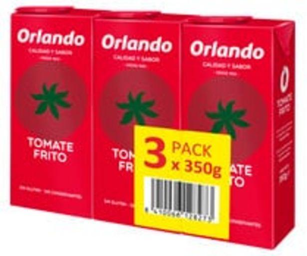Oferta de Tomate frito ORLANDO brik de 3 uds x 350 g. por 2,53€