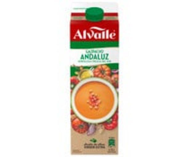 Oferta de Gazpacho andaluz elaborado con hortalizas frescas del sur ALVALLE 1 l. por 3,25€