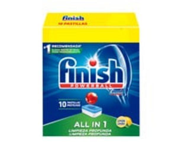Oferta de Detergente en pastillas para lavavajillas FINISH Todo en 1, 10 uds. por 1€