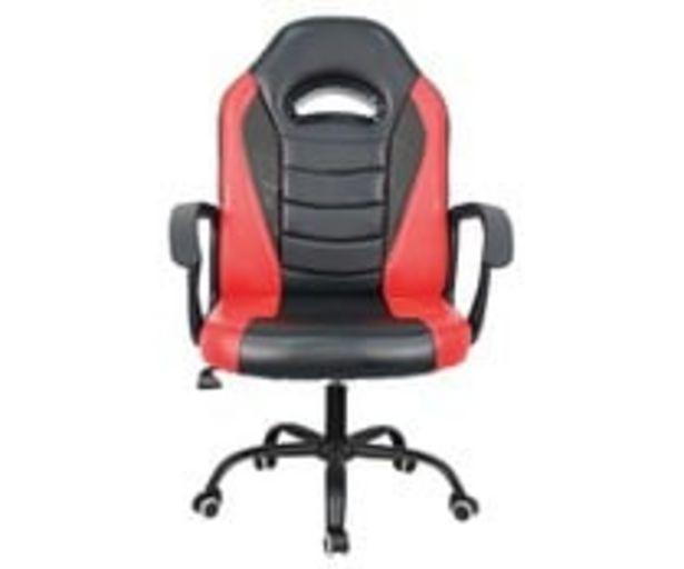 Oferta de Silla gaming en cuero sintético de color rojo y negro, LUMSEVI. por 49,95€