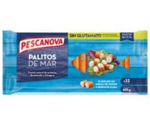 Oferta de Palitos de mar sin colorantes, ni conservantes PESCANOVA 615 g. por 3,94€
