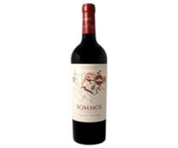 Oferta de Vino tinto con denominación de origen Somontano SOMMOS Varietales botella de 75 cl. por 6,95€