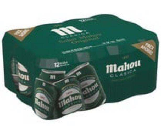 Oferta de Cervezas  Clásicas  MAHOU pack de 12 latas de 33 centilitros por 3,14€