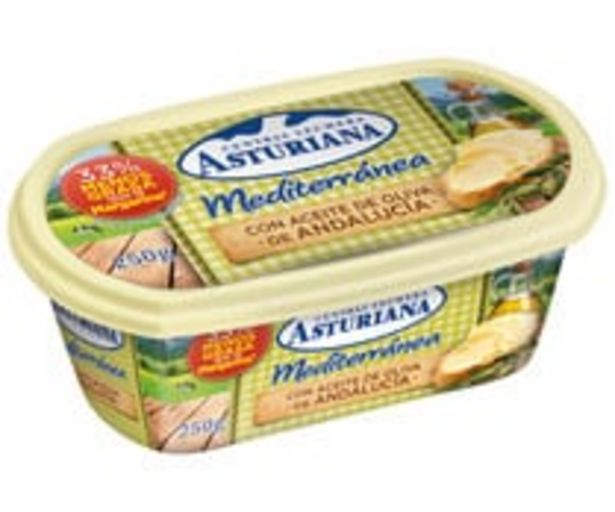 Oferta de Tarrina  de mantequilla con aceite de oliva, fácil de untal CENTRAL LECHERA ASTURIANA 250 g. por 2,36€