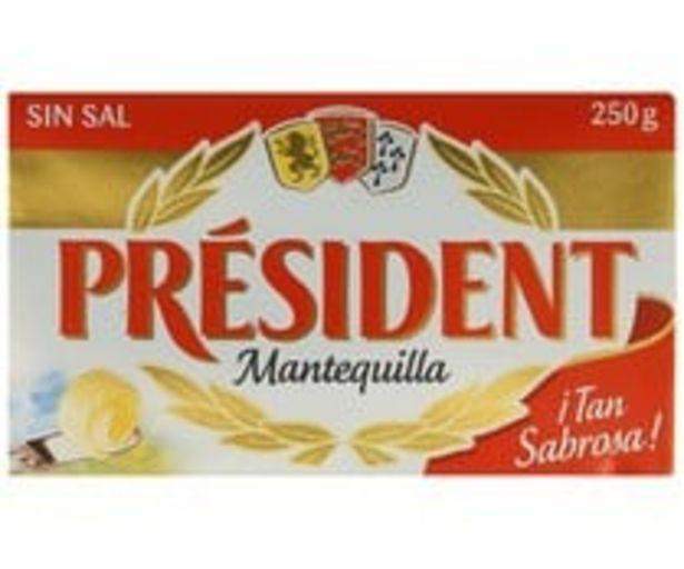 Oferta de Pastilla de mantequilla sin sal PRESIDENT 250 g. por 2,97€