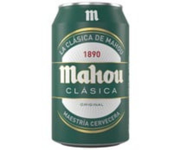 Oferta de Cerveza clásica MAHOU CLÁSICA lata 33 centilitros por 0,48€