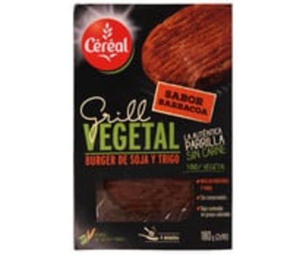 Oferta de Hamburguesa de soja y trigo con sabor barbacoa CÉRÉAL BIO 2 x 90 g por 3,45€