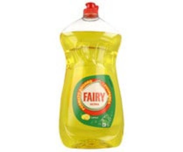 Oferta de Detergente lavavajillas a mano aroma limón FAIRY 1,19 l. por 3,65€