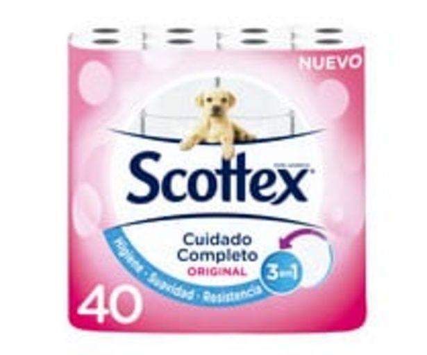 Oferta de Papel higiénico Original SCOTTEX 40 uds. por 10,12€