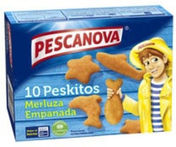 Oferta de Merluza empanada con forma de peces PESCANOVA Peskitos 10 uds. por 2,28€
