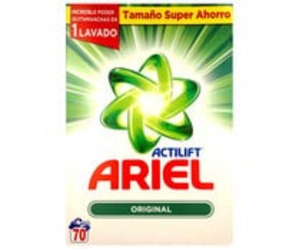 Oferta de Detergente en polvo regular para lavadora, ARIEL ACTILIFT 70 lav. por 15,5€