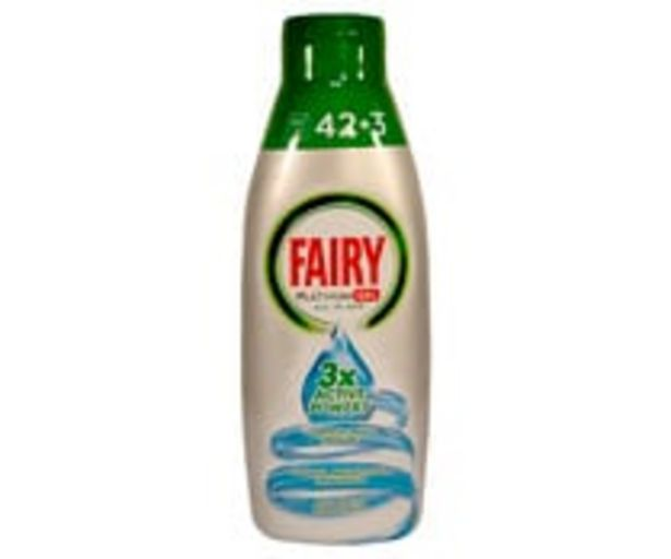 Oferta de Detergente lavavajillas Océano FAIRY PLATINUM 42 + 3 lav. 900 ml. por 7,51€