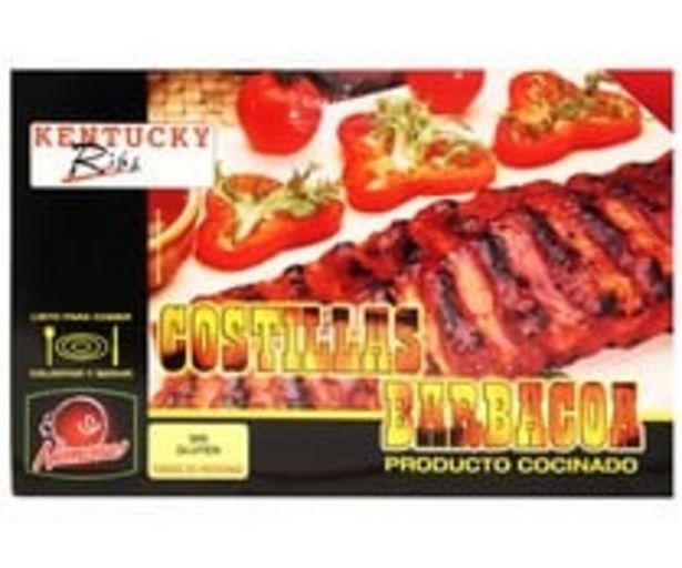 Oferta de Costillas de cerdo con salsa barbacoa HEMOSA 500 g. por 5,45€