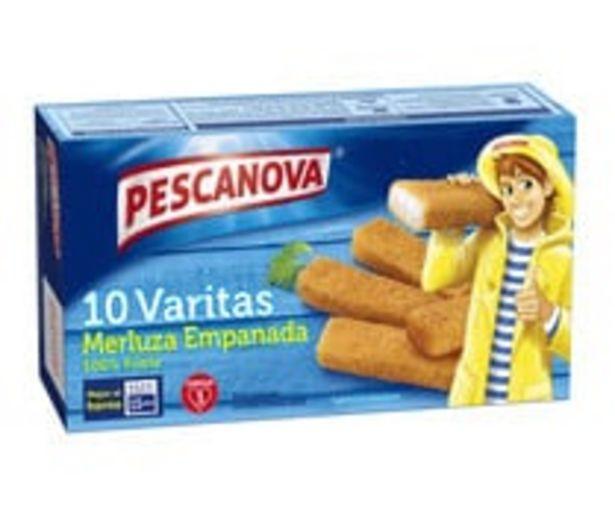 Oferta de Merluza empanada en varitas PESCANOVA 10 uds. por 1,78€