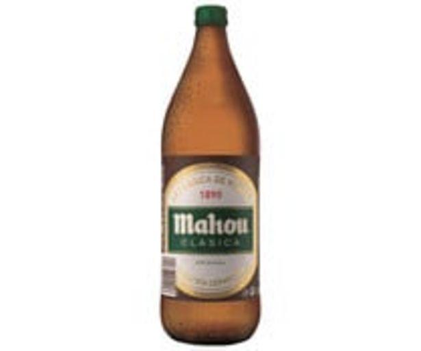 Oferta de Cerveza clásica MAHOU Botella 1 Litro por 1,32€