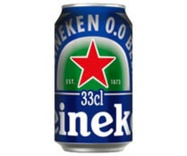 Oferta de Cerveza 0,0% HEINEKEN  lata 33 cl. por 0,49€