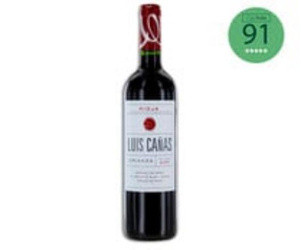 Oferta de Vino tinto crianza con denominación de origen Rioja LUIS CAÑAS botella de 75 cl. por 10,38€