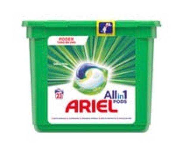 Oferta de Detergente en cápsulas Original ARIEL All in 1 Pods 23 uds. 579,6 g. por 7,4€