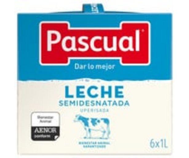 Oferta de Leche  semidesnatada procedente de animales con bienestar garantizado PASCUAL 6 x 1l. por 5,28€