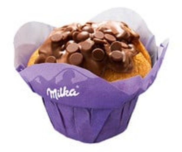 Oferta de Muffins recubiertos y rellenos de chocolate Milka, 2 uds, 2x75g. por 1,99€