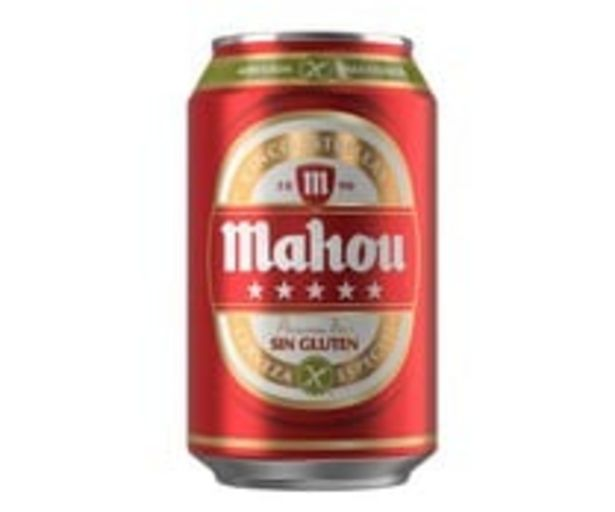 Oferta de Cerveza sin gluten MAHOU, lata de 33 cl. por 0,58€