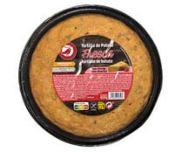 Oferta de Tortilla de patata fresca, con chorizo y elaborada sin gluten PRODUCTO ALCAMPO 600 g. por 2,49€