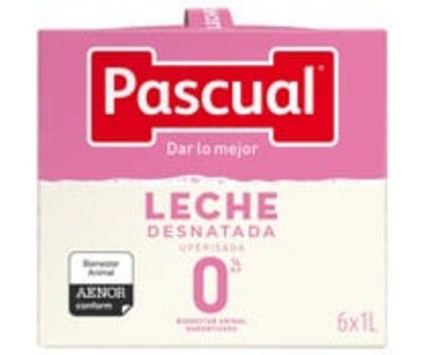 Oferta de Leche  desnatada 0% materia grasa PASCUAL 6 x 1l. por 5,28€