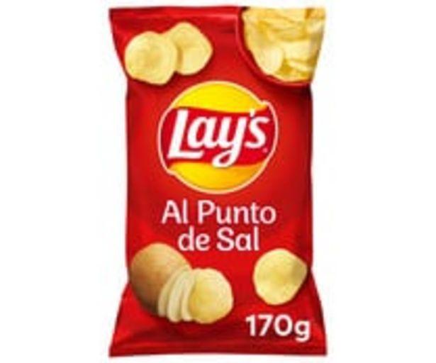 Oferta de Patatas fritas lisas con sal LAY'S Al punto de sal 170 g. por 1,19€