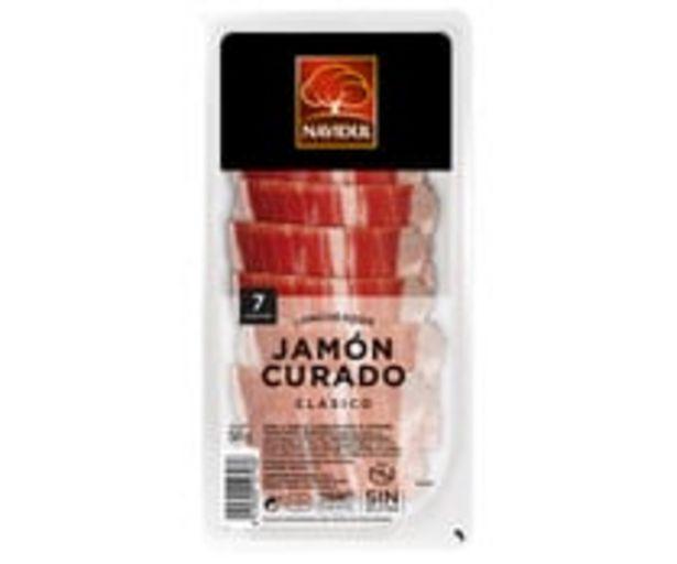 Oferta de Jamón curado, elaborado sin gluten y sin lactosa y cortado en lonchas NAVIDUL 50 g. por 0,94€