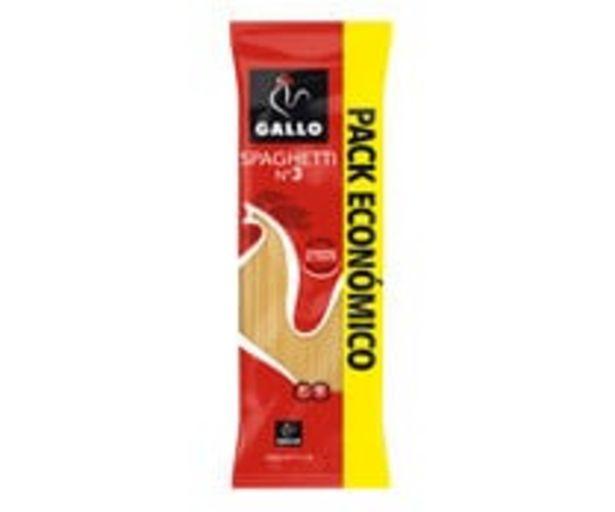 Oferta de Pasta   espagueti  Nº 3 GALLO paquete de 900 g. por 1,78€