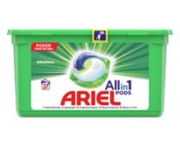 Oferta de Detergente en cápsulas Original ARIEL All in 1 Pods 37 lav 932,4 g. por 8,98€
