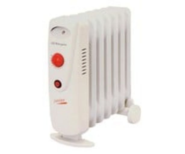 Oferta de Radiador de aceite mini ORBEGOZO RO1010C, potencia max: 1000W, 7 elementos, termostato. por 46,95€