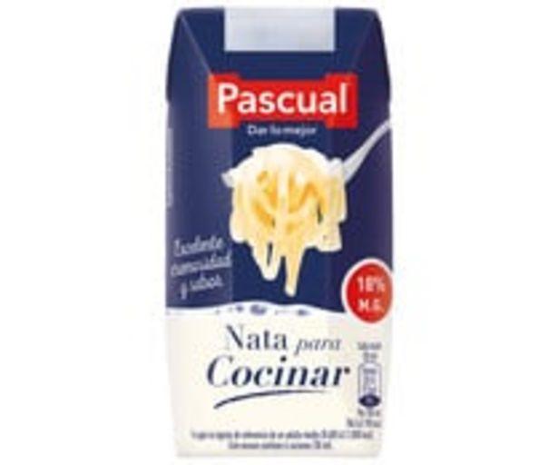 Oferta de Nata líquida (18 % de materia grasa) para cocinar PASCUAL 200 ml. por 1,05€