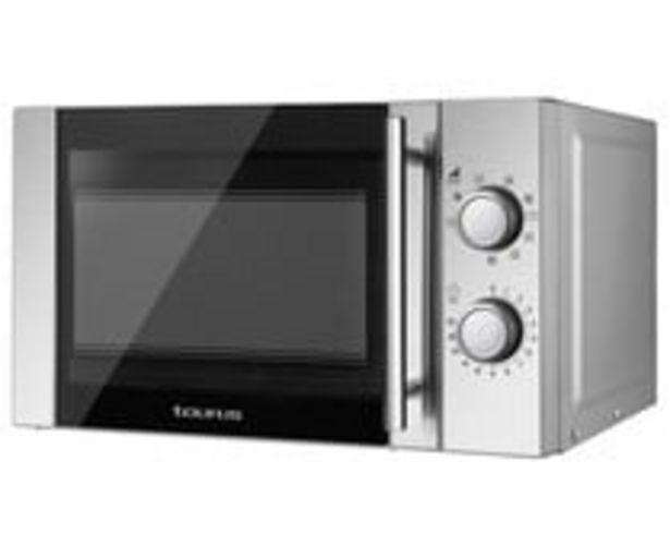 Oferta de Microondas con grill TAURUS LUXUS, color inox, capacidad 20L, potencia 700W, grill: 900W. por 86,9€