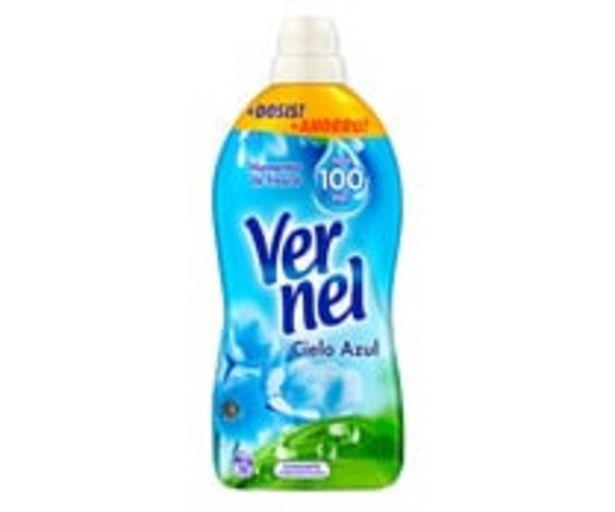 Oferta de Suavizante concentrado Cielo Azul, hasta 100 días VERNEL 76 ds. por 3,18€