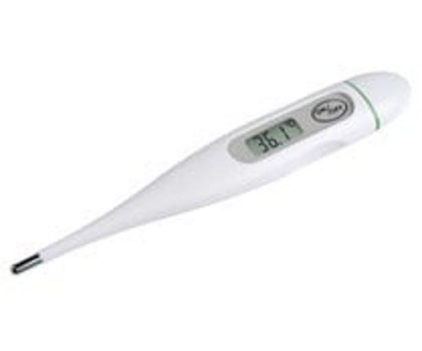 Oferta de Termómetro digital MEDISANA FTC, oral, axilar o rectal, resistente al agua, alarma de fiebre. por 3,9€