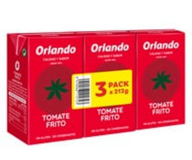 Oferta de Tomate frito ORLANDO 3 uds. 212 g. por 1,02€
