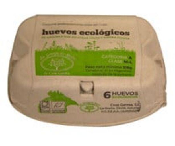 Oferta de Huevos frescos ecológicos Clase M-L Categoría A LA GRANJA DE SAURI 6 uds. por 2,21€
