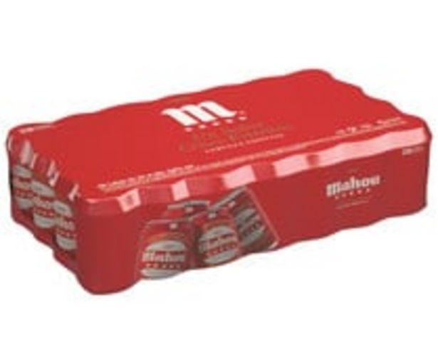 Oferta de Cervezas MAHOU 5 ESTRELLAS pack 28 latas x 33 cl. por 15,6€